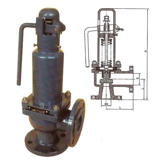 Клапан предохранительный пружинный полноподъемный